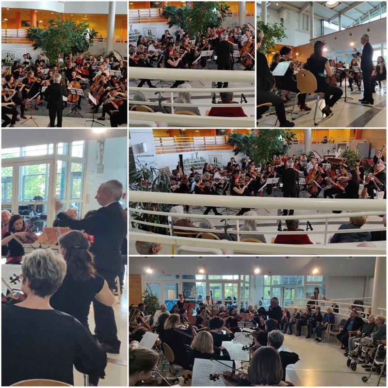 Concert de l'Orchestre des Hospices Civils de Lyon au pavillon Michel Perret du Centre Hospitalier Lyon Sud, en 2019